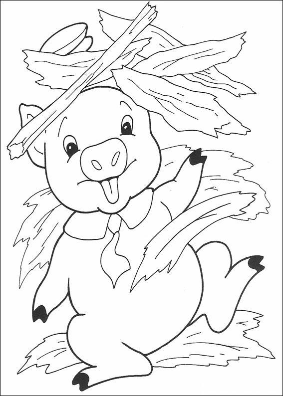 Porcellini disegni per bambini da colorare