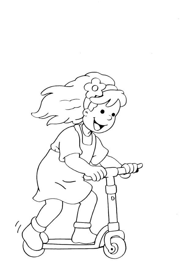 4 5 anni 8 disegni per bambini da colorare for Disegno bambina da colorare