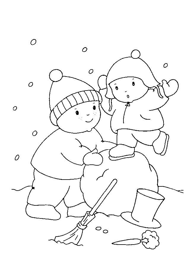4 5 anni 11 disegni per bambini da colorare - Immagini da colorare la neve ...