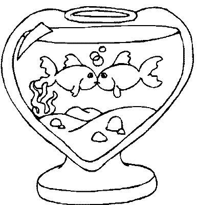 Acquari pesciolini disegni per bambini da colorare - Dessin a calquer ...