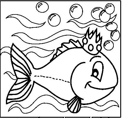 Acquari pesciolini disegni per bambini da colorare for Immagini pesciolini