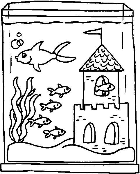 Acquari pesciolini 2 disegni per bambini da colorare for Disegni da colorare pesciolini