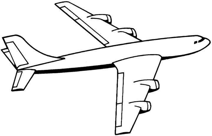 Aereo disegni per bambini da colorare - Avion en dessin ...