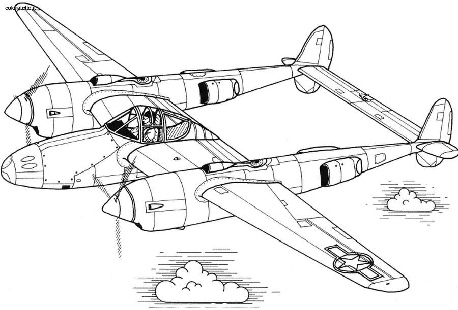 disegni da colorare di aerei militari