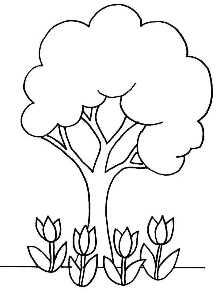 Alberi disegni per bambini da colorare for Foto di alberi da colorare