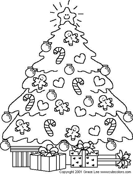 Albero Natale Da Colorare Per Bambini.Alberi Natale 3 Disegni Per Bambini Da Colorare