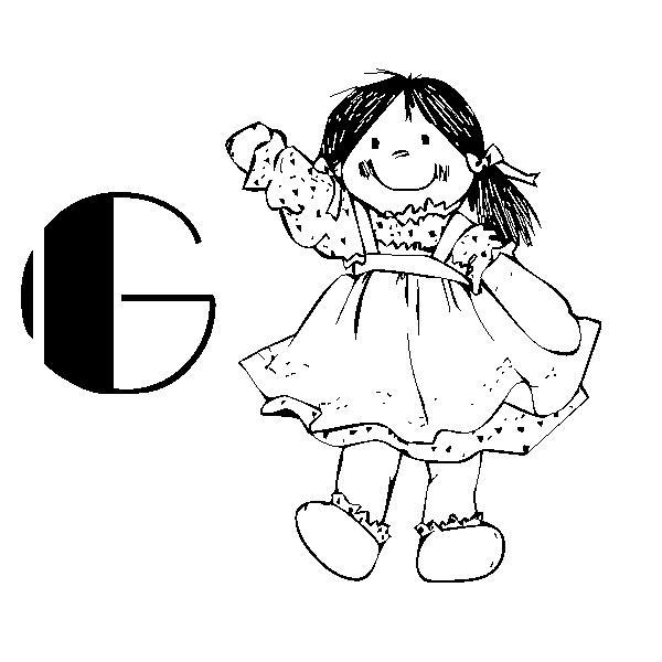 Alfabeto Bambolina 2 Disegni Per Bambini Da Colorare