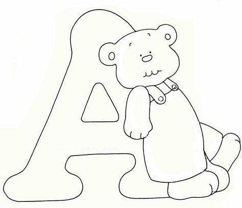 Alfabeto orsetto disegni per bambini da colorare - Bambino samuel pagina da colorare ...