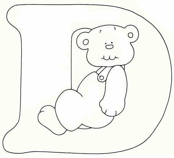 Alfabeto orsetto disegni per bambini da colorare
