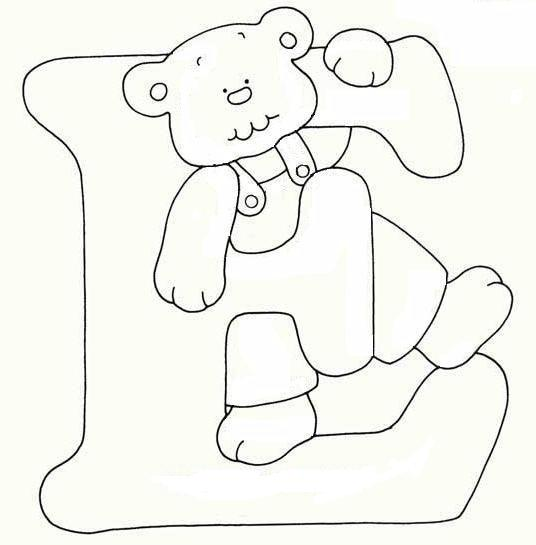 Alfabeto orsetto disegni per bambini da colorare - Lettere animali da stampare ...