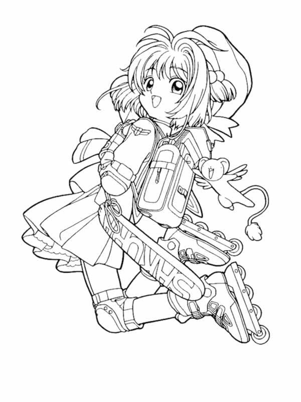 Amici di sakura 3 disegni per bambini da colorare - Dessin manga a colorier ...