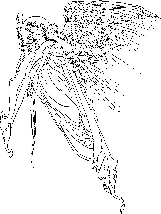 Angeli 2 disegni per bambini da colorare for Disegni angeli da colorare gratis