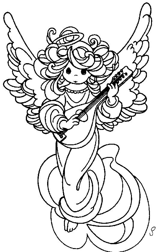 Angeli 3 disegni per bambini da colorare for Immagini angeli da colorare