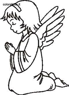 Angeli 4 disegni per bambini da colorare for Angeli da colorare stampare