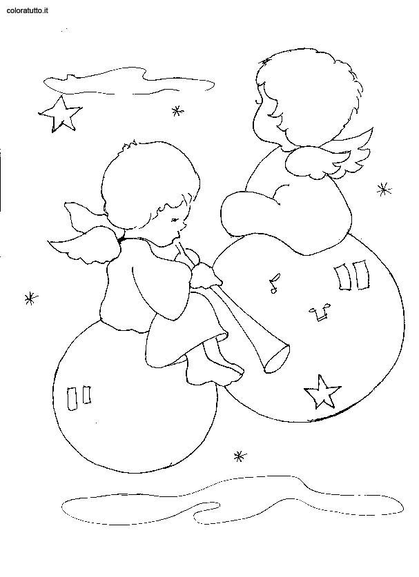 Angeli 5 disegni per bambini da colorare for Disegni da colorare angeli