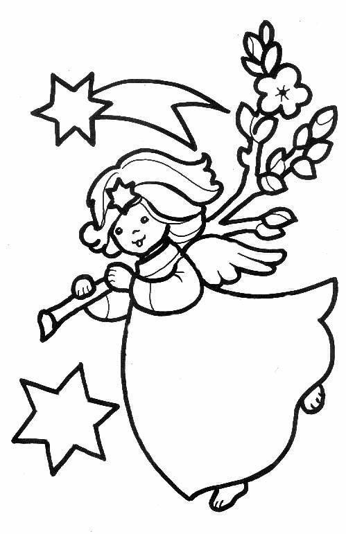 Angeli 6 disegni per bambini da colorare for Angeli da stampare e colorare