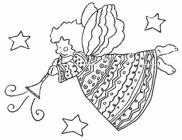 Angeli 7 disegni per bambini da colorare for Disegni da colorare angeli