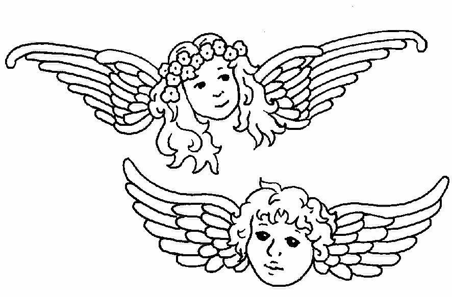 Angeli 7 disegni per bambini da colorare for Angeli da stampare e colorare