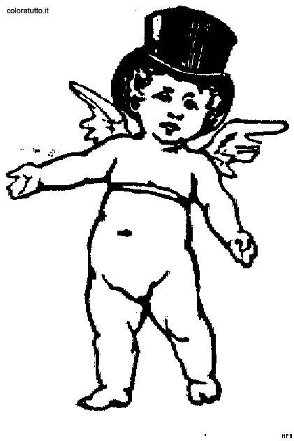 Angeli 9 disegni per bambini da colorare for Angeli da stampare e colorare