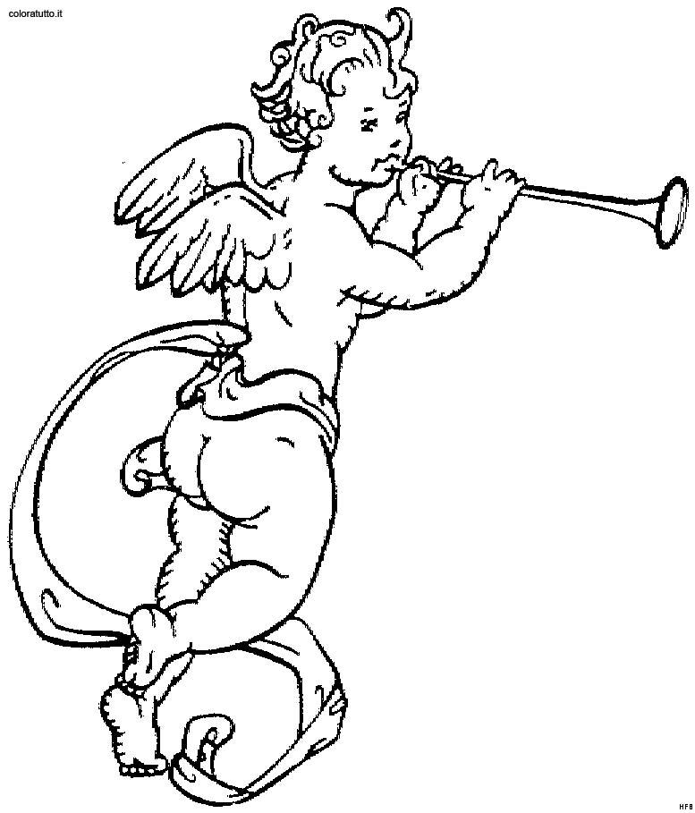 Angeli 10 disegni per bambini da colorare for Disegni da colorare angeli
