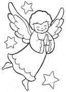 Disegni Angioletti Da Colorare Per Bambini.Angeli Disegni Per Bambini Da Colorare