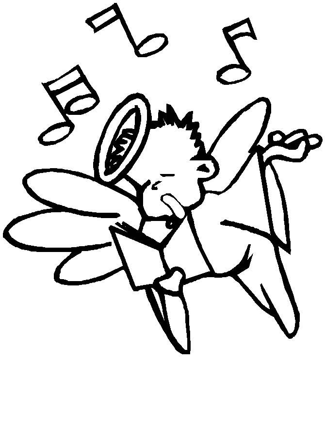 Angeli natale 3 disegni per bambini da colorare for Disegni da colorare angeli
