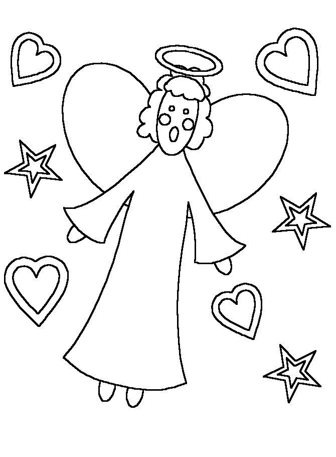 Angeli natale 6 disegni per bambini da colorare for Disegni di angeli da colorare per bambini