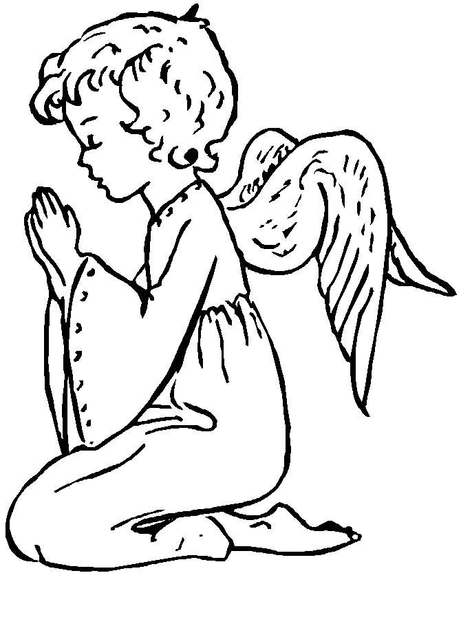 DISEGNI ANGELI NATALIZI 3