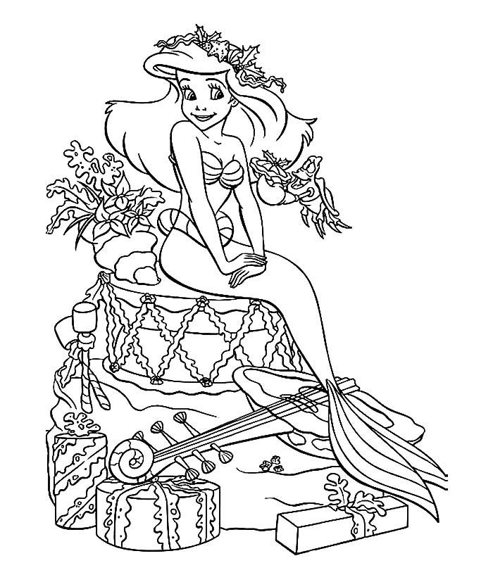 disegni da colorare ariel da stampare