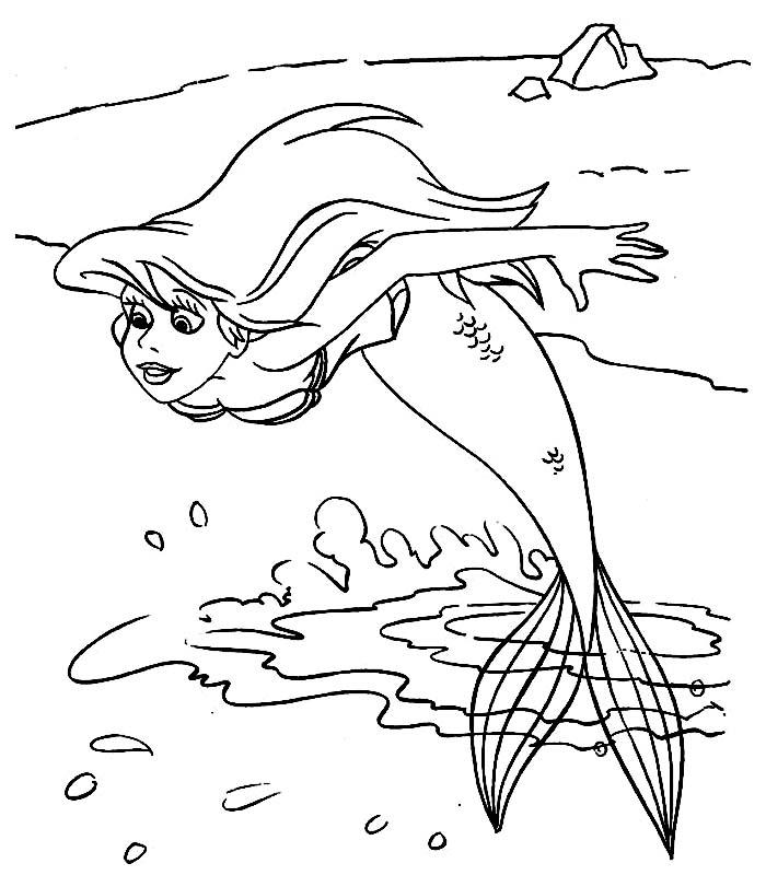 Ariel disegni per bambini da colorare for La sirenetta da stampare