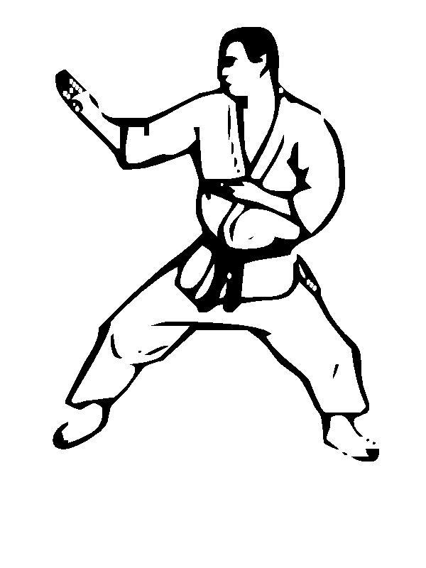 Arti marziali disegni per bambini da colorare - Contorni delle immagini da colorare ...