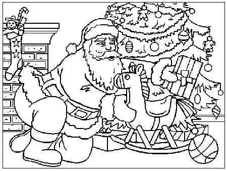 Immagini Di Babbo Natale Da Colorare E Stampare.Babbo Natale Disegni Per Bambini Da Colorare
