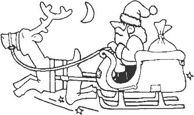 Babbo Natale 2 Disegni Per Bambini Da Colorare