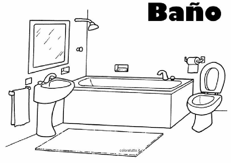 disegno da vasche bagno Piccole : Bagno 3, Disegni per bambini da colorare