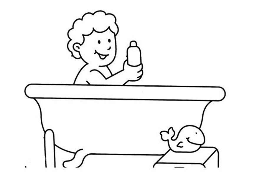 bagno Doccia disegno : Bagno 3, Disegni per bambini da colorare