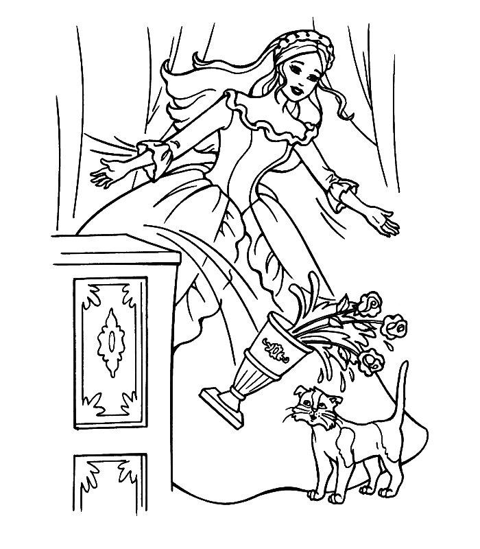 Barbie Cuore Principessa, Disegni Per Bambini Da Colorare