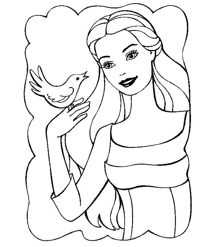 Barbie Lago Cigni, Disegni Per Bambini Da Colorare