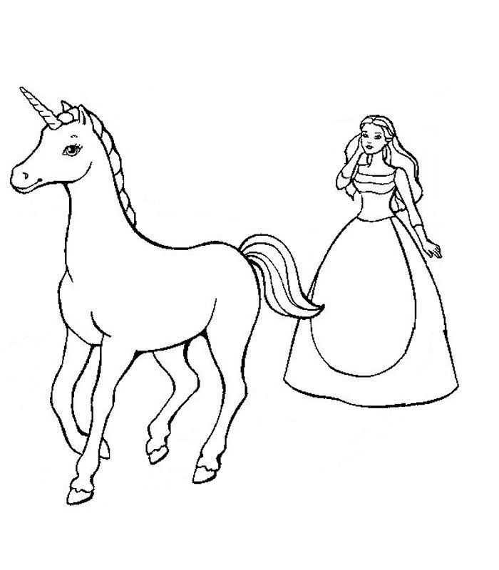 Barbie lago cigni 2 disegni per bambini da colorare - Unicorno alato pagine da colorare ...