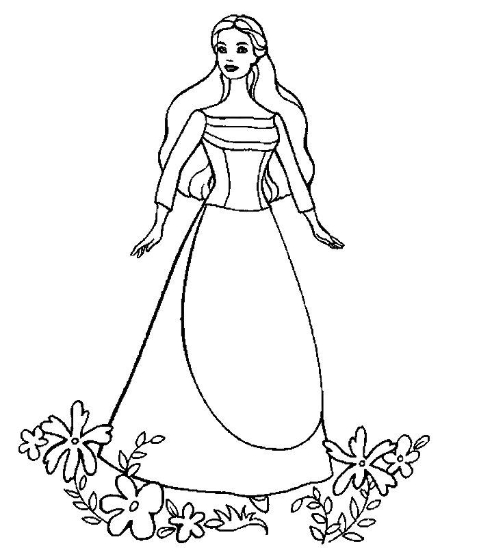 Barbie lago cigni 2 disegni per bambini da colorare for Lago disegno