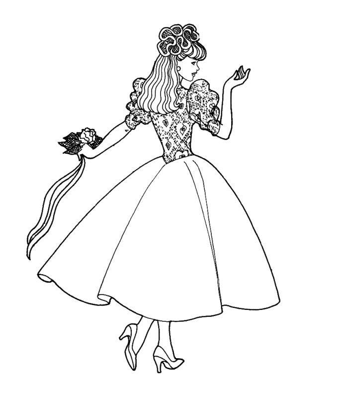 Barbie Sposa 2 Disegni Per Bambini Da Colorare