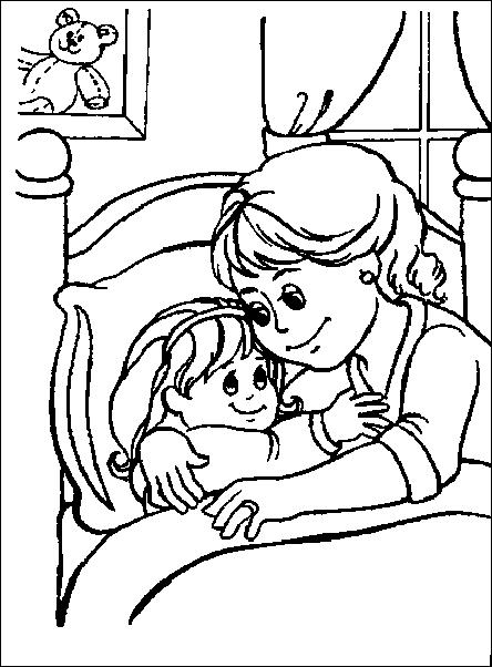 Buonanotte bambini 2 disegni per bambini da colorare - Ragazzi da colorare in immagini ...