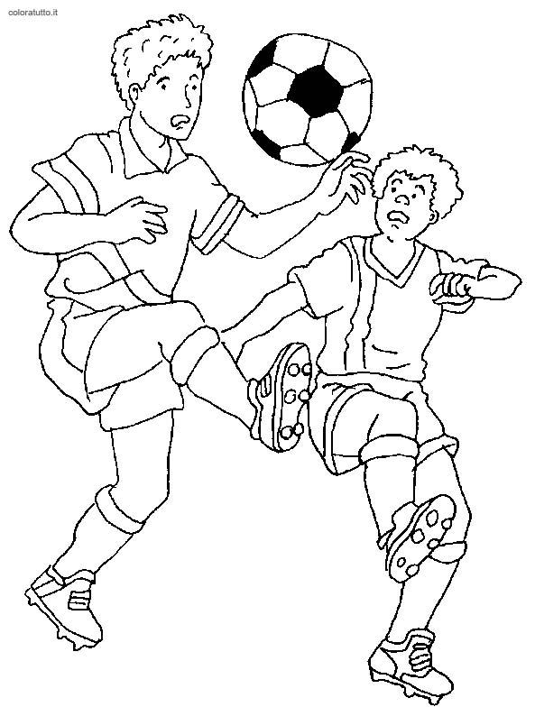 Calcio 2 Disegni Per Bambini Da Colorare