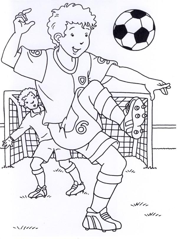 calcio 3 disegni per bambini da colorare