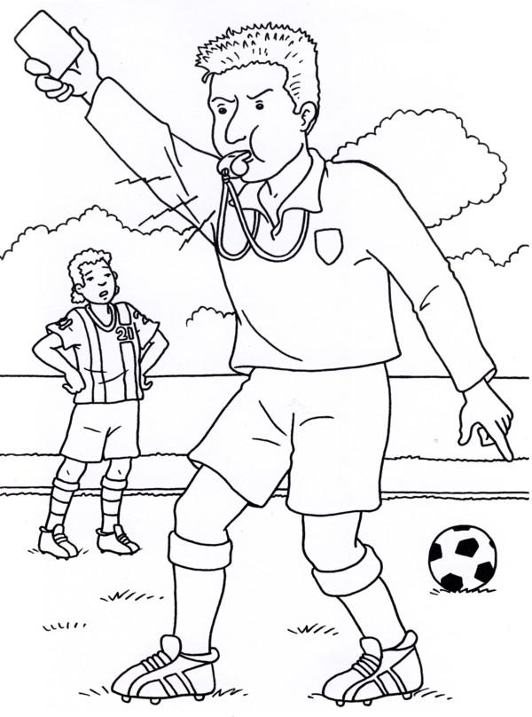 Calcio 3 disegni per bambini da colorare - Ragazzi da colorare in immagini ...