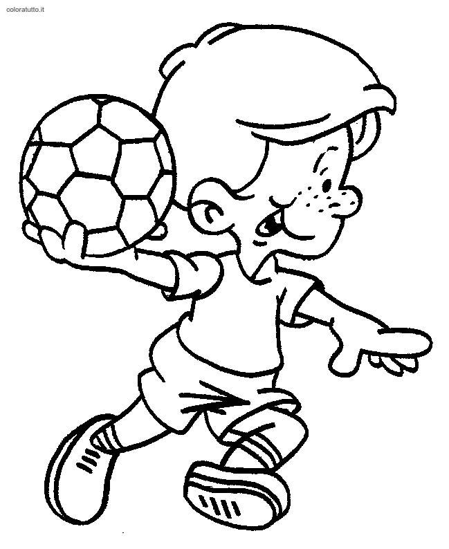 Super Calcio, Disegni per bambini da colorare RN69