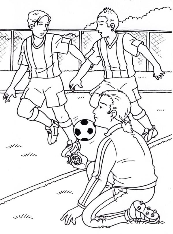 Disegni Da Colorare Partita Di Calcio.Calcio 4 Disegni Per Bambini Da Colorare