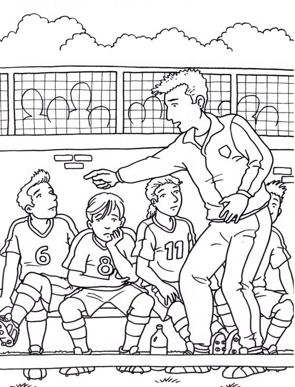 Calcio 4 disegni per bambini da colorare for Disegni sport da colorare