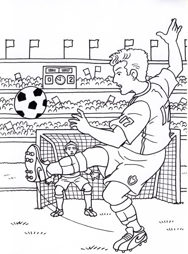 Calcio 5 disegni per bambini da colorare - Immagini sportive da stampare ...