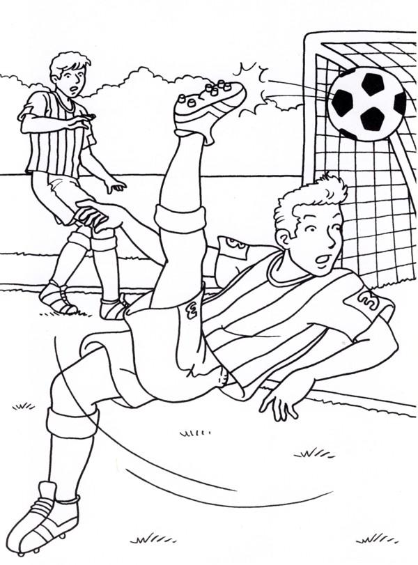 Calcio 6 disegni per bambini da colorare - Pagina da colorare di un pallone da calcio ...
