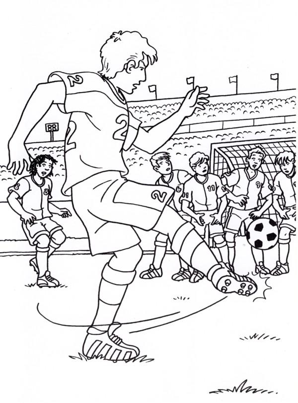 Calcio 6 disegni per bambini da colorare for Disegni calciatori da colorare per bambini